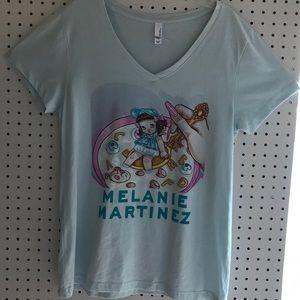 Melanie Martinez light blue v-neck shirt size XXL